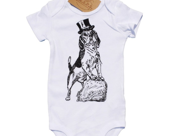 Beagle Baby Jumpsuit - Infant Boy Clothes - Infant On Piece - Baby Romper - Dog - Newborn Gift - Gift for New Mother - Cotton Baby Clothes