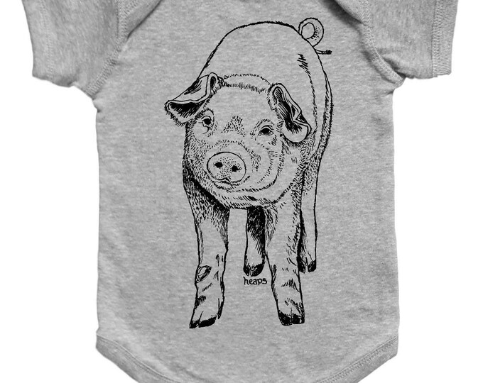 Farm Animal Baby One Piece - Cute One Piece Jumper - Piglet - Pig Baby Clothes - New Mom Gift - Baby Shower Gift - Funny Animal Clothes