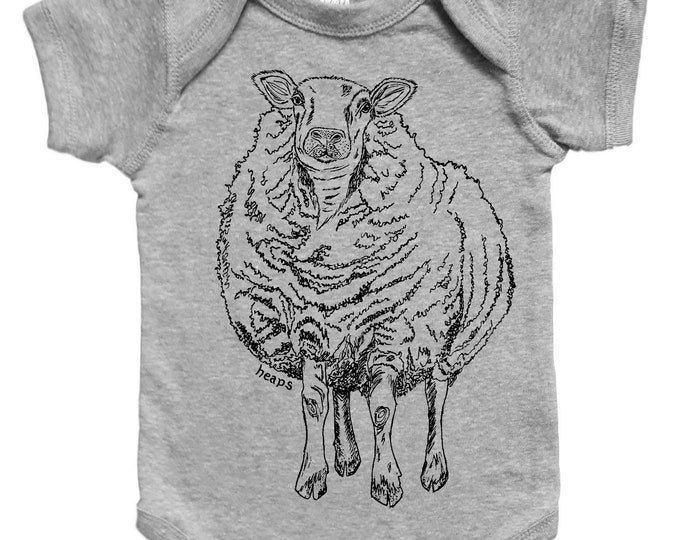 Farm Animal Baby One Piece - Cute One Piece Jumper - Sheep Baby Clothes - New Mom Gift - Baby Shower Gift - Funny Animal Clothes