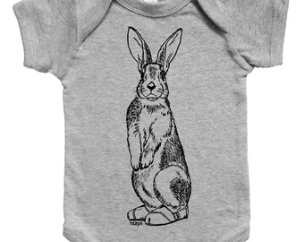 Rabbit Baby One Piece - Unique Baby Gift - Baby Boy Bodysuit - Baby Girl Bodysuit - Jumper - Funny Animals - Unisex Infant Clothes - Creeper