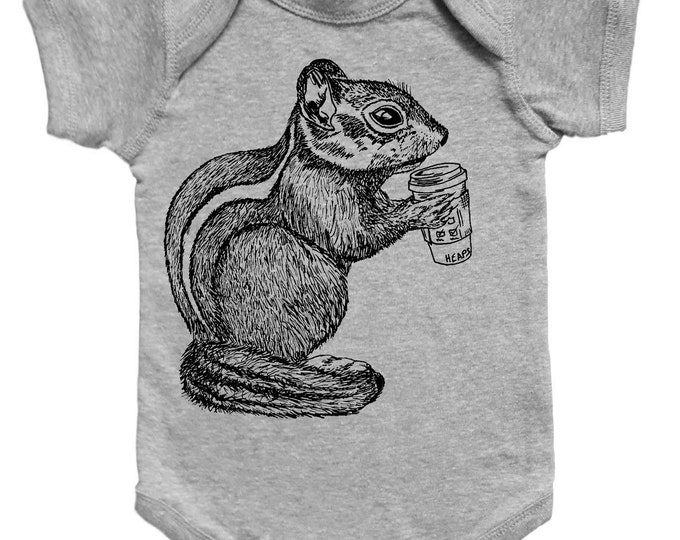 Chipmunk Baby Romper - Funny Baby One Piece - Unique Baby Shower Gift - New Mom Gift Idea - Gifts for Baby Boys or Girls - Baby Bodysuite