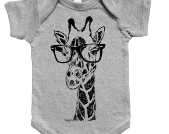 Giraffe Baby Bodysuit - Baby Shower Gift - New Mom Gift - Baby Girl One Piece - Baby Boy Clothes - Animal Print - Funny Baby Clothes Creeper
