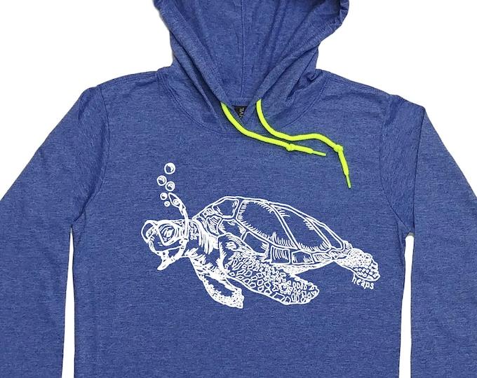 Hoodies for women - Turtle Hoodie - Snorkeling Turtle - Sea Turtle Tee - Travel Tee - Travel Hoodie - Tshirt Hoodie - Pullover Hoodie Swim