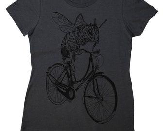 Womens T Shirt - Regular Fit Tee - Fashion T Shirt - Bike Tshirt - Bee TShirt - Cycling Tshirt - Funny Womens Tees - Funny Fashion Tee