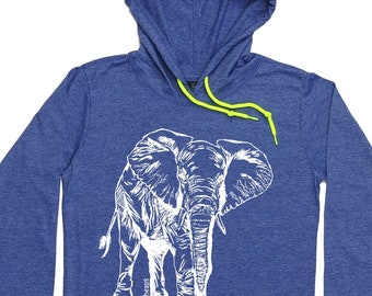 Women's Hoodies - Elephant TShirt - Elephant Hoodie - African Animals - Graphic Hoodie - Hoodie for Women - Trendy Clothing for Women - Gift