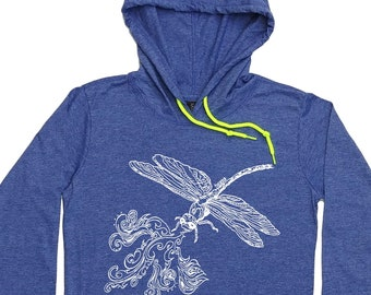 Graphic Hoodies for Women - Dragonfly Hoodie - Dragonfly TShirt - Pullover Hoodies - Funny Unique Fashion Hipster Clothing for Women