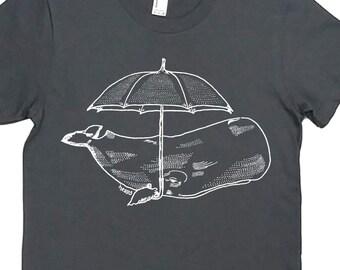 Womens Graphic T shirt - Womens crewneck tee - Whale T shirt - Nautical Shirt - Funny Whale Shirt - Womens Retro Tshirt - Womens Tee Shirts
