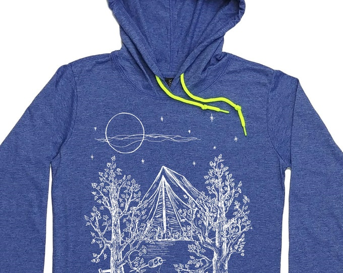 Women's Funny Hoodies - Camping Hoodie - Camping Shirt - Tenting TShirt - Pullover Hoodie Long Sleeve - Unique Trendy Hipster Fashion Gift