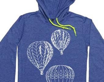 Hoodies for Women - Hooded T-shirt - Hot Air Balloons - Pullover Hoodie Women - Woman's Hoodie - Funny Hoodies - Graphic Hoodies - Hoody