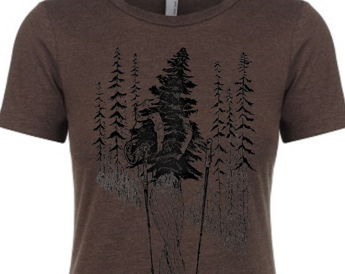 Woman T Shirt - Hiking TShirt - Outdoor Enthusiast Clothing - Nature T Shirt - Gift for Women - Funny Tshirts - Women Graphic Tee - Forestry