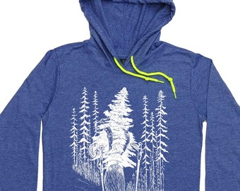 Womens Hoodies Long Sleeve - Hiking Pullover - Hiking Hoodie - Hiker Gift - Take a Hike - Hooded T-shirt Women - Blue Hoody for Women