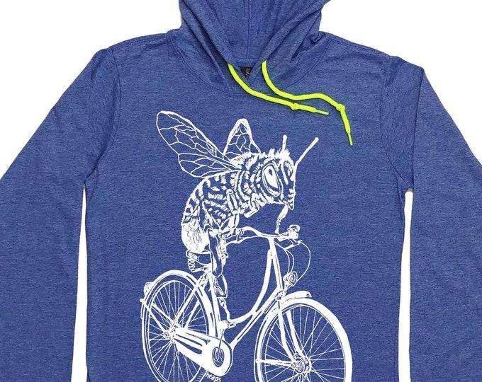 Womens Hoodies - Hoodie Graphic - Bee Shirt - Bee Hoodie - Bicycle Hoodie - Cycling - Biking Shirt - Hoodie T Shirt for Women Pullover