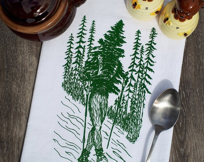 Flour Sack Tea Towel - 100% Cotton Kitchen Towel - Screen Printed Dish Towel - Tree Towels - Nature Towels - Graphic Towels - Funny Gifts