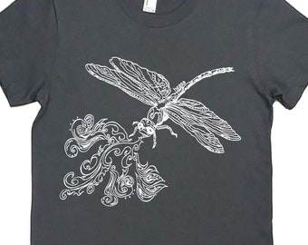 Tshirts for Women | American Apparel | Dragonfly Womens Tshirt | Funny Tops for Women | Cool TShirt | Hipster Clothing | Trendy Clothes