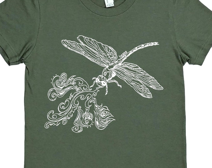 Womens T Shirt - Funny Womens T Shirt - Dragonfly T Shirt - Hipster Clothing - Nature Lover Gift - Outdoor enthusiast gift - punny tee