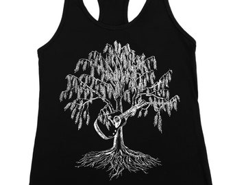 Guitar Tank Tops - Tank Tops for Women - Muscle Tee for Women - Exercise Tank Top - Guitar Tank - Black Tank Top - Graphic Tank Top
