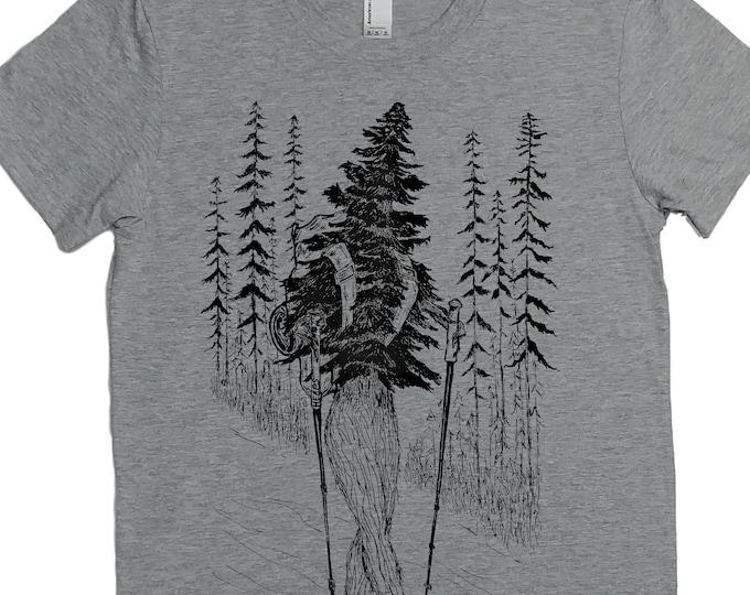 Hiking T Shirt Women - Hiker Shirt - Forest Tshirt - Tshirt with Trees - Adventure Shirt - Walking Tshirt - Exercise Tee - Womens Tee Shirts