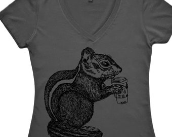 Coffee Shirt Women - Coffee Lover Gift - But First Coffee Shirt - Womens Coffee Shirt - Coffee Gifts - Coffee Tshirt - Chipmunk Shirt