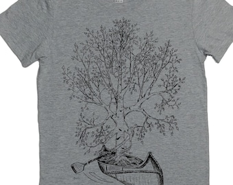 703aadf193b Canoeing T Shirt for Women - Gift for Women - Canoe Tshirt - Tree T Shirt -  Birch Bark Canoe - Canoe Gift - Funny Canoeing Tees S M L XL 2XL