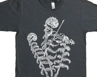 Tshirts for Men - Fiddle Shirt - Husbands Gifts - Man Gift - Plant Tshirt - Graphic Tshirt for Men - Man Tee Shirt - Violin Shirt
