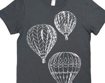 Womens TShirts - Hot Air Balloons - Trendy Womens Clothing - Woman T Shirt - Hipster Clothing - Women Graphic Tee - Gift for Woman