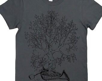 f4092f2c16d Womens TShirt - Birch Tree Womens Tee - Cute Tshirts - Fashion T Shirts -  Canoeing T Shirts - Gift for Women - Best Friend Gift - Grey