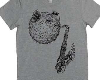 Graphic Tee Shirts for Women - Blowfish Tshirt - Womens Funny Tshirt - Woman T Shirt - Gift for Woman - Hipster Clothing - Women Graphic Tee