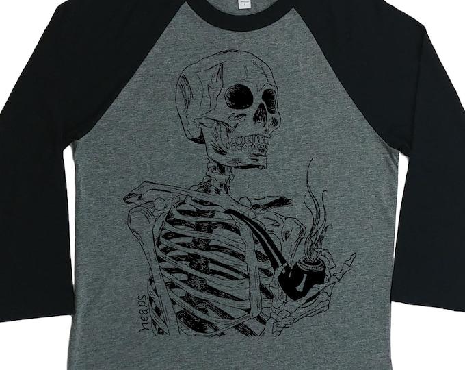 Baseball Tshirt for Women - Unisex Fit - Skeleton TShirt - Pot Tshirt - Weed Tshirt - Graphic Women's Baseball - Unique Funny Trendy Cool