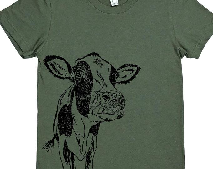 Womens T Shirt - Cow Tee - Animal Womens Clothing - Cool Tees - Fashion Tshirts - Geek T-shirt - Cow T Shirt Womens - Womens Tee