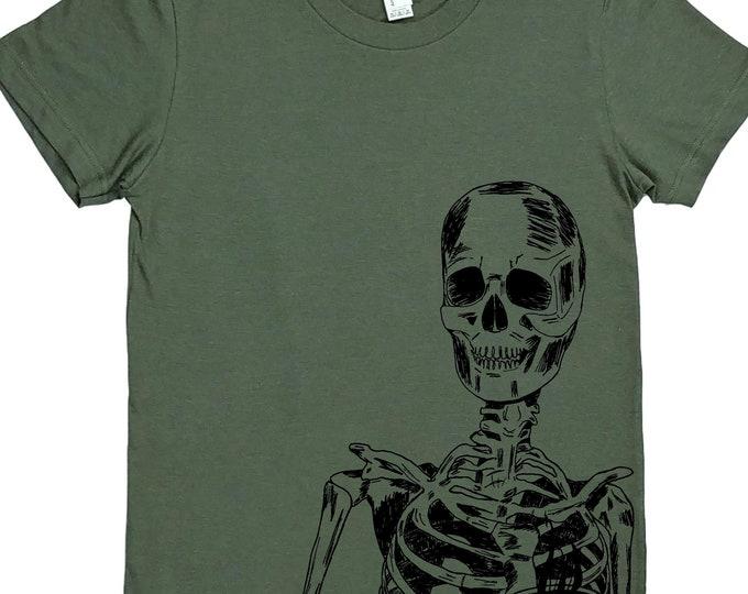 Skeleton Tee - Coffee Lover T Shirt - Coffee Drinking Shirt - Coffee Drinker Gift - Gift for Coffee Lover - Coffee Lovers Gift