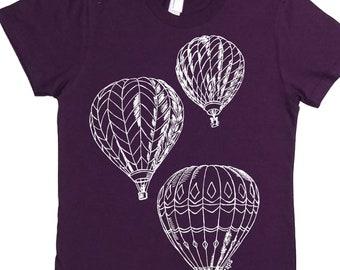 Womens T Shirt - Hot Air Balloons Tee - Fun Womens Clothing - Cool Tees - T Shirt Womens - Womens Tee - Fashion Tshirts - Festival T-shirt