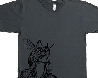 Funny Mens TShirt - Man Gift Funny - Gifts for Dad - Graphic Tee Men - Charcoal Grey Printed Tee - Mens Gift Tshirt - Bee Tee S M L XL 2XL