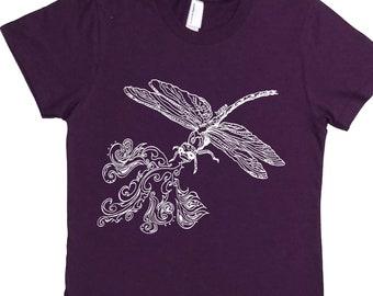 Funny Womens Shirts - Summer Top - American Apparel TShirt - Dragonfly Tshirt - Womens TShirt - Womens Summer T Shirts - Womens Gifts