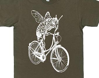 Mens Funny TShirt - Mens Gift - Boyfriend Tshirt - Bee Tees - Bike TShirt - Biking Cycling - T Shirts for Men - Honey Bee TShirt