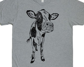 Cow Tshirt - Graphic Tees for Men - Gifts for Men - Husband Gift Idea - Boyfriend Gifts - Gifts for Dad - Anniversary Gift for Men -