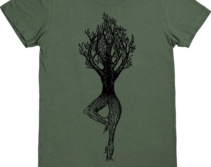 Yoga Tree Pose Tshirt - Woman TShirt - Fashion Tshirts for Women - Women Graphic Tee - Yoga Clothing - Gift for Women - Yoga Lover Gift