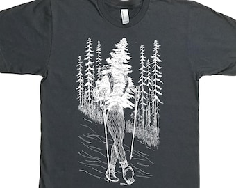 Hiking Shirt for Men - Hiker Shirt - Gift for Hiker - Evergreen Forest Shirt - Nature Inspired - Trees Tshirt Hiker Boots Hiker Poles