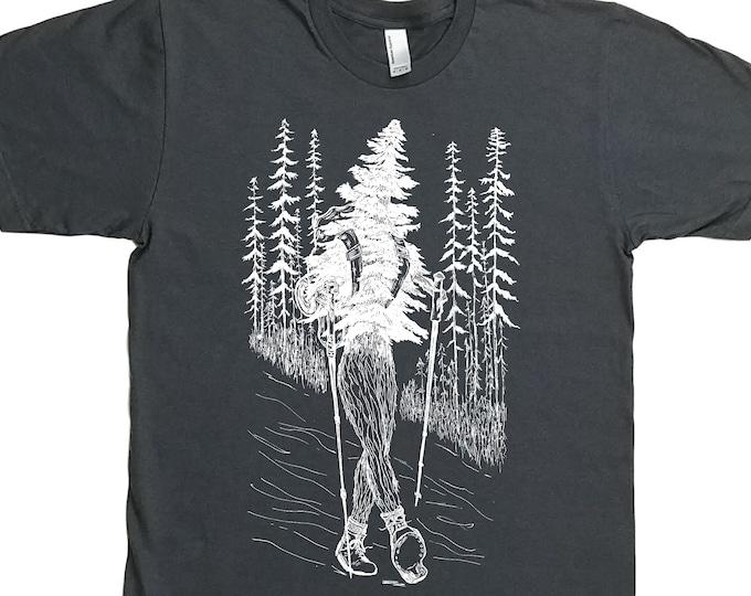 Hiking Shirt for Men - Hiker Shirt - Gift for Hiker - Evergreen Forest Shirt - Nature Inspired - Trees Tshirt Hiker Boots Hiker Poles