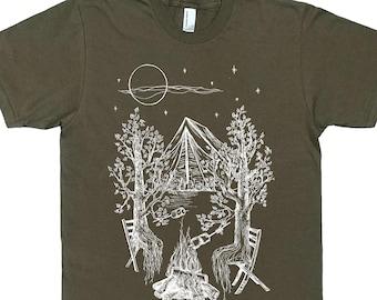 9aa2344e Mens Camping T Shirt - Man Tee Shirt - Trees Tshirt - Forest Shirt - Nature  Tshirt - Funny Camping Shirt - Outdoorsman Gift Camping Tee