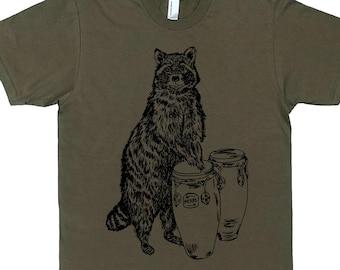 Mens Funny Tshirt - Animal T Shirt - T Shirts for Men - Boyfriend Tshirt - Man Gift - Graphic TShirt - Screen Print Tees - Raccoon TShirt