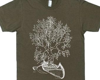 Mens Gift - Canoeing TShirt for Men - Man T Shirt - Man Gift - Canoe Tshirt - Tree TShirt - Graphic Tshirt - Canoe Gift - Canoeing Tees