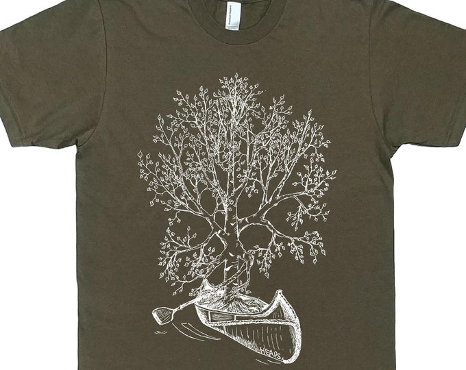 Canoeing TShirt for Men - Man T Shirt - Man Gift - Canoe Tshirt - Tree TShirt - Graphic Tshirt for Man - Canoe Gift - Funny Canoeing Tees