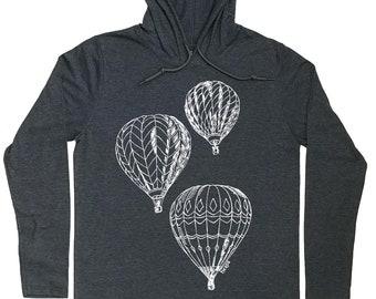 Hoodies for Men - Hooded T-shirt Men - Hot Air Balloons - Balloons - Pullover Hoodie Men - Mens Hoodie - Funny Hoodies - Graphic Hoodies