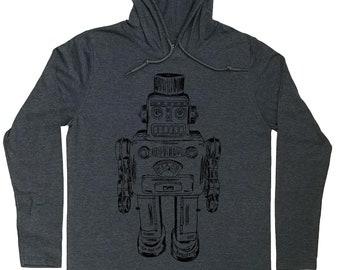Mens Hoodies - Robot Hoodie - Robot t shirt - Nerd Shirt - Pullover Hoodie Men - Grey Hoodies - Mens Hoody - Funny Hoodies - Graphic Hoodie