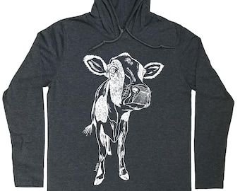 Hoodies for Men - Cow Hoodie - Cow T Shirt - Farmer Gift - Hoodie Graphic - Hoodie for Men - Hoodie Tshirt Men - Hoodie for Boyfriend