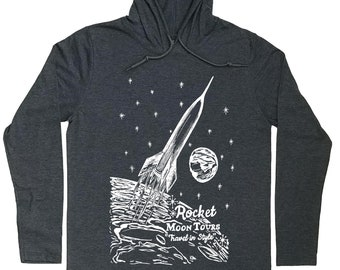 Hoodies for Men - Sci Fi Hoodie - Rocket Hoodie - Sci Fi t shirt - Rocket T Shirt - Rocket Tee - Hoodie Graphic - Hoodie Tshirt Men