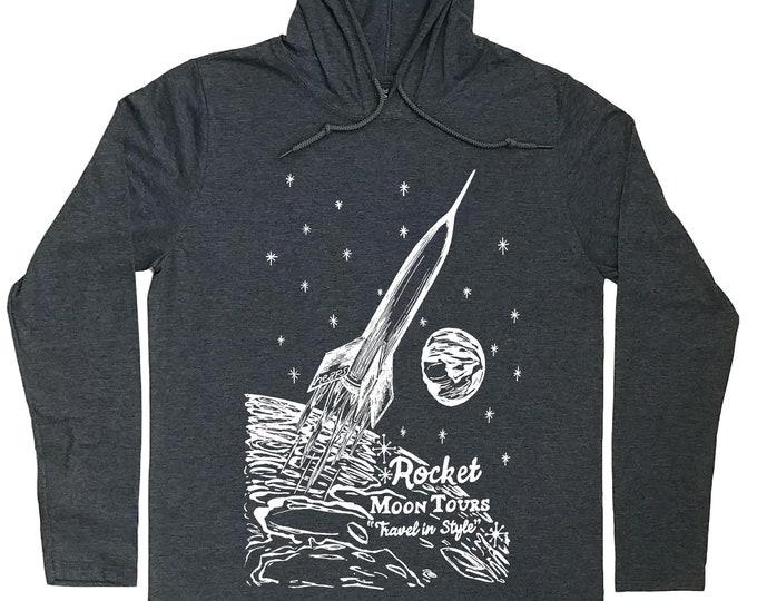 Hoodies for Men - Sci Fi Hoodie - Rocket Hoodie - Sci Fi t shirt - Rocket T Shirt - Rocket Tee - Hoodie Graphic - Hoodie Tshirt Men