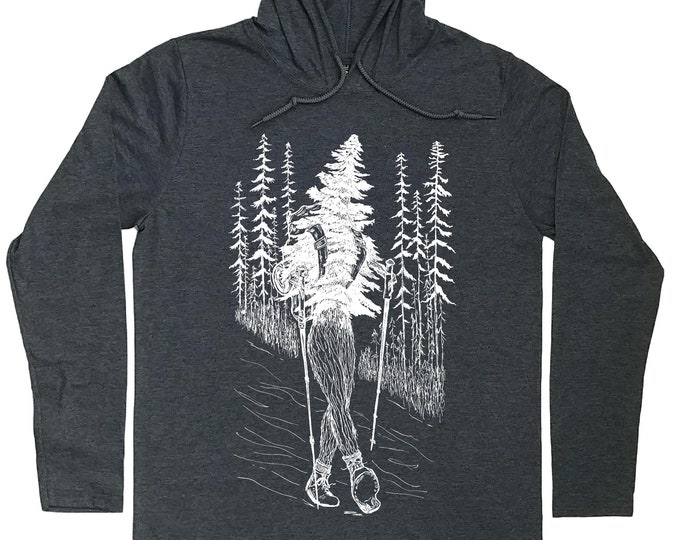 Mens Hoodies - Hiking Pullover - Hiking Hoodie - Nature Lover Gift - Hiker Gift - Take a Hike - Hoodie for Boyfriend - Hooded T-shirt Men