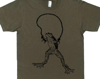 Mens TShirt - Frog TShirt - Man Gift Husband Gift - Cool T Shirts - Mens Funny T Shirt - Mens Funny Tees - Boyfriend Tshirts - Mens Gifts