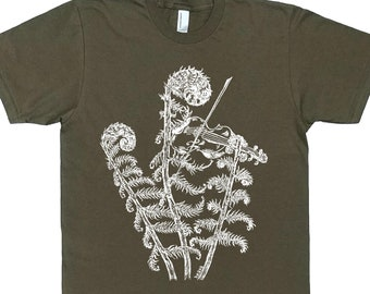 Mens Graphic Tshirt- Fiddle Shirt - Husbands Gifts - Man Gift - Plant Tshirt - Funny Tshirt for Men - Man Tee Shirt - Violin Shirt